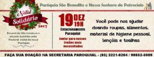 Natal Solidário 2017 próximo dia 19/12