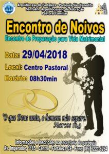 Inscrições abertas para Encontro de Noivos do dia 29/04 na Paróquia São Benedito