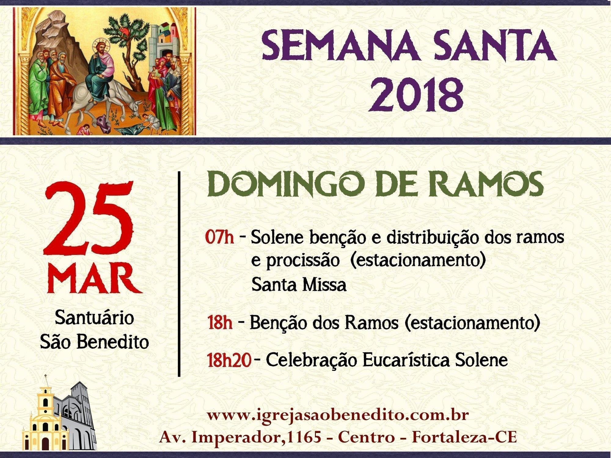 Celebrações do Domingo de Ramos na Paróquia São Benedito