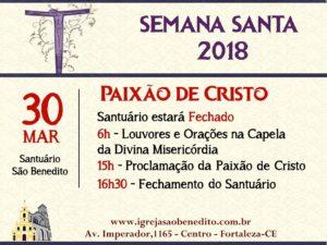 Proclamação da Paixão de Cristonesta Sexta-Feira Santa (30/03)