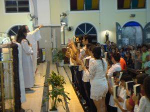 Pastoral Familiar e Catequese celebram Santa Missa do mês de Abril