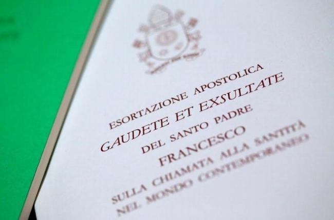 Exortação Apostólica Gaudete et Exsultate do Papa Francisco sobre o chamado à santidade no mundo atual