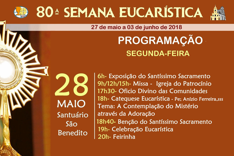 Programação do 2º dia da Semana Eucarística
