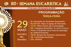Programação do 3º dia da 80ª Semana Eucarística – Participe