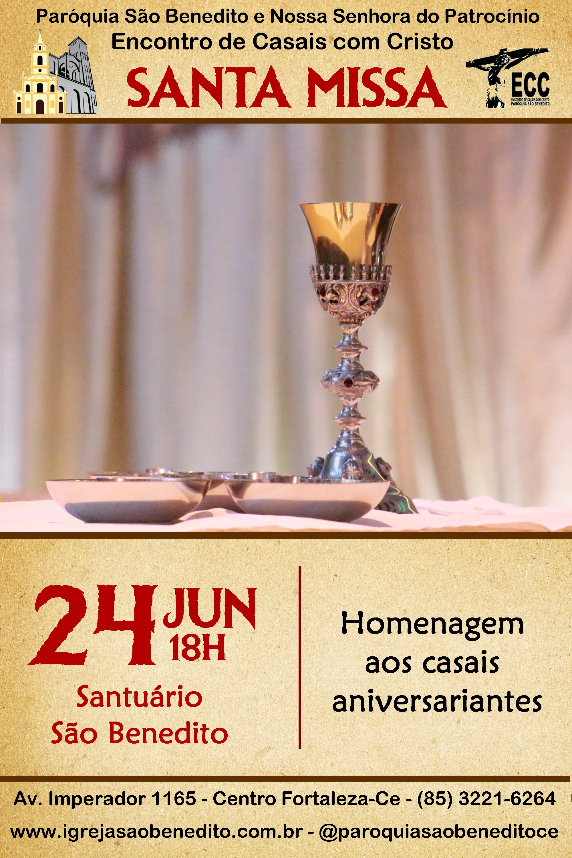 ECC – Encontro de Casais com Cristo convida para Santa Missa do mês de Junho