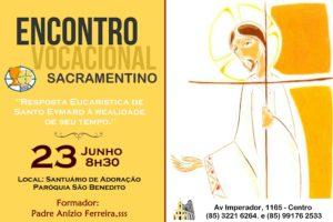 Encontro Vocacional Sacramentino dia 23/06. Participe!