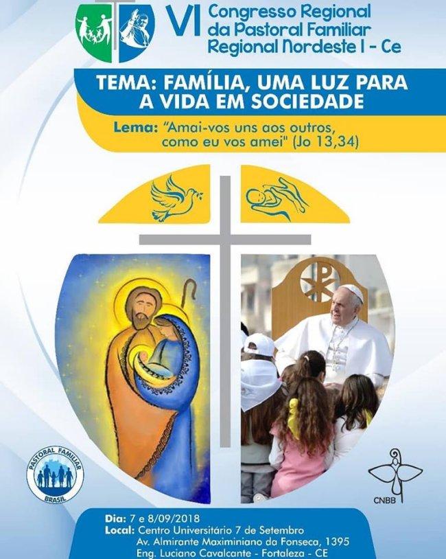 Pastoral Familiar realizará VI Congresso Regional de 07 a 09/09