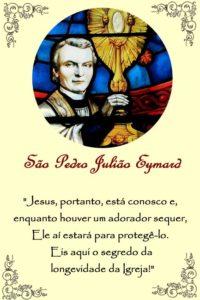 Memória de São Pedro Julião Eymard