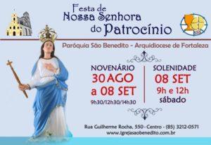 Novenário e Festa de Nossa Senhora do Patrocínio de 30 de Agosto a 08 de Setembro. Participe!