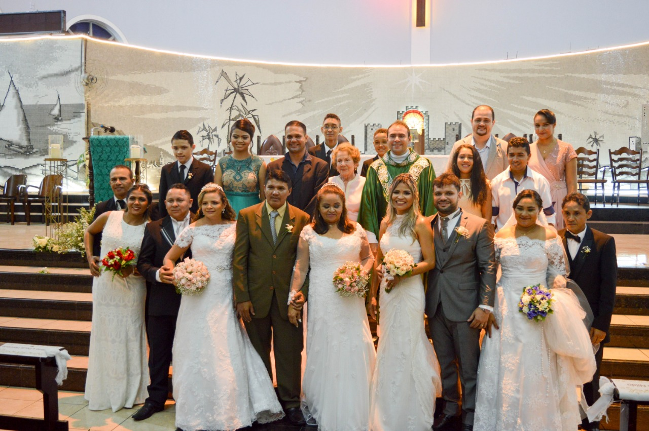 Paróquia São Benedito celebra na Semana Nacional da Família 2018 o Casamento Religioso Comunitário