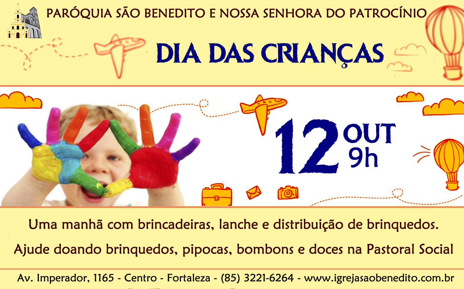 Festa Dia das Crianças dia 12/10. Participe!