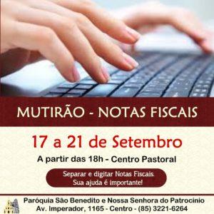 Mutirão Solidário para triagem e digitação de Notas Fiscais de 17 a 21/09. Participe!
