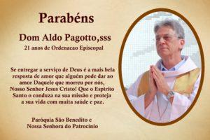 Dom Aldo Pagotto,sss celebra 21 anos de Ordenação Episcopal.