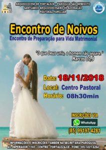 Inscrições abertas para Encontro de Noivos dia 18/11 na Paróquia São Benedito