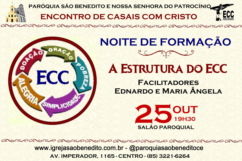 Noite de Formação do ECC no próximo dia 25/10. Participe!