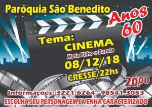 Festa Anos 60 com tema Cinema da Paróquia São Benedito no próximo dia 08/12: Participe!