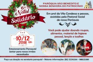 Natal Solidário 2018 próximo dia 10/12. Participe.