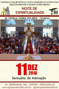 Noite de Espiritualidade dia 11/12. Participe!
