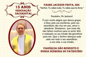 Padre Jackson Frota,sss – 14 anos de Ordenação Sacerdotal