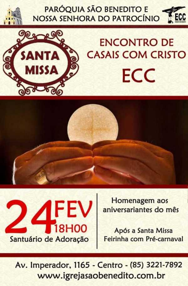 ECC – Encontro de Casais com Cristo convida para Santa Missa do mês de Fevereiro