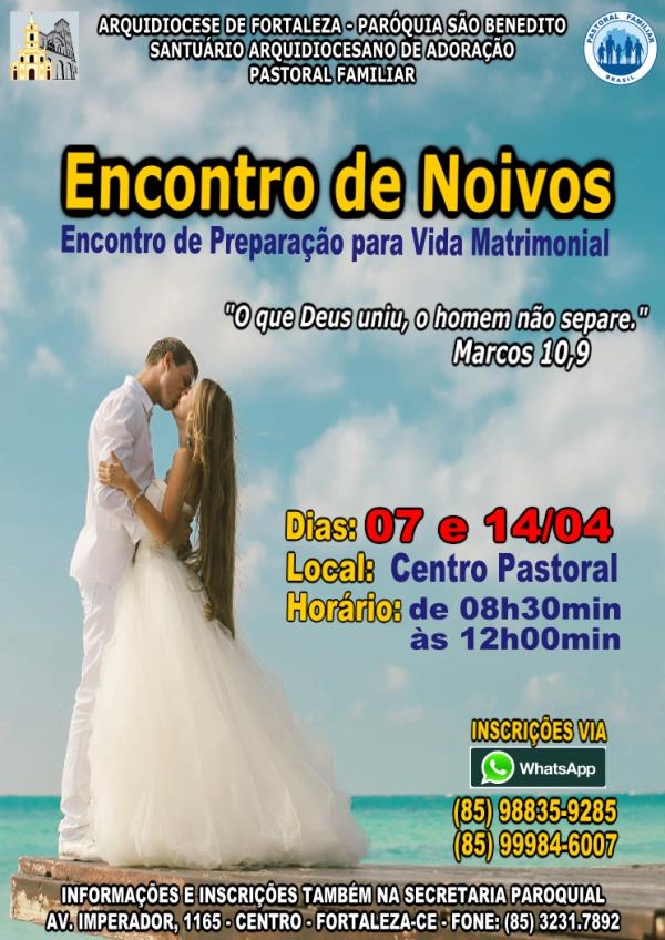 Inscrições abertas para Encontro de Noivos na Paróquia São Benedito