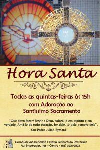 Hora Santa todas as quintas-feiras no Santuário de Adoração: Participe