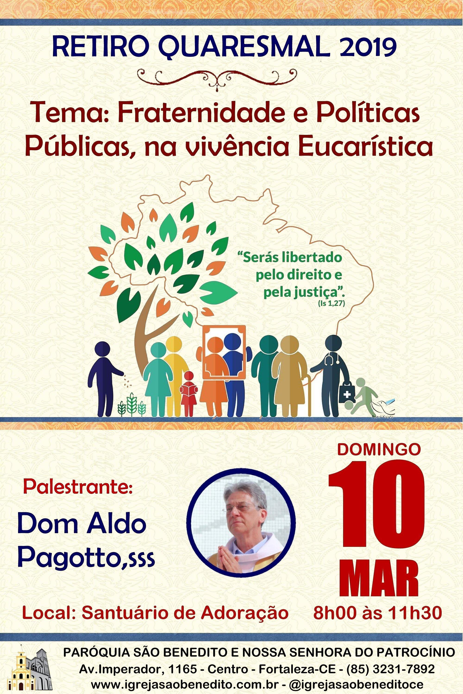 Retiro Quaresmal 2019 neste domingo dia 10/03 na Paróquia São Benedito. Participe!