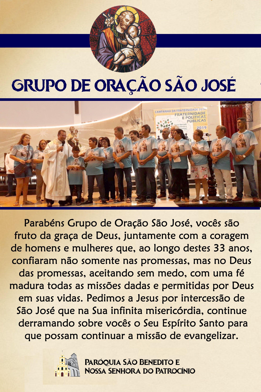 Grupo de Oração São José celebra 33 anos