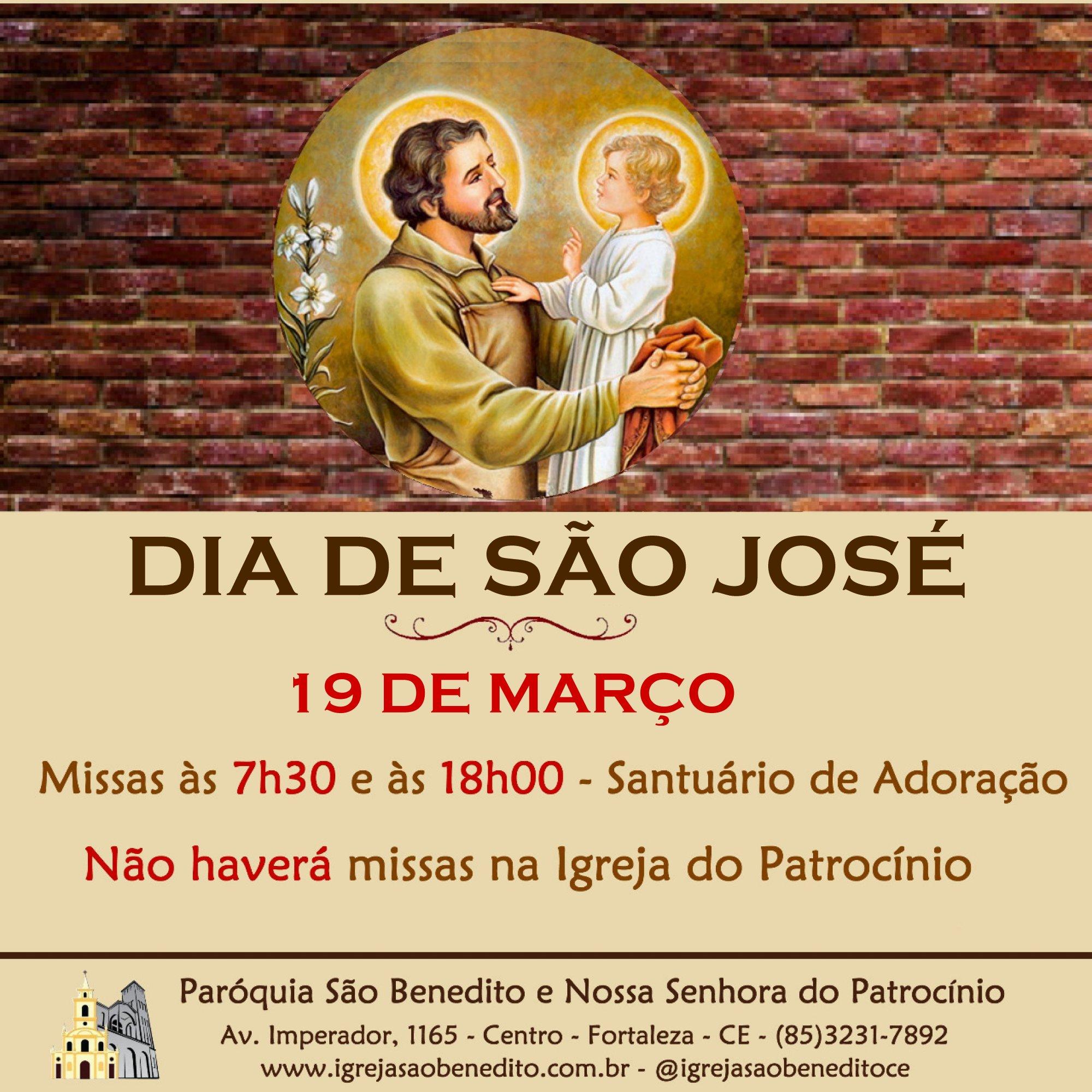 Dia de São José na Paróquia São Benedito. Participe!