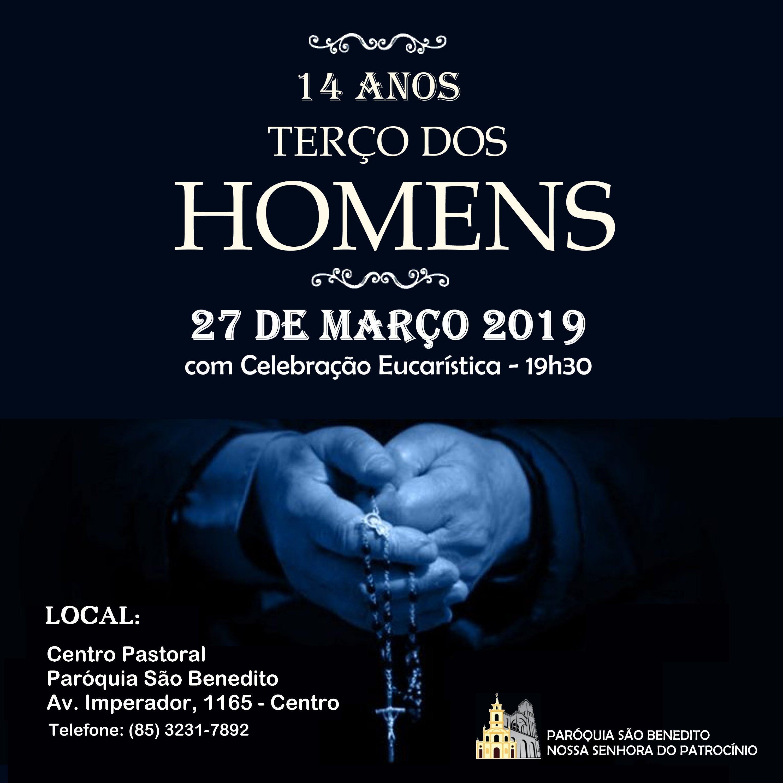 Convite Terço dos Homens 14 anos: Amanhã dia 27/03
