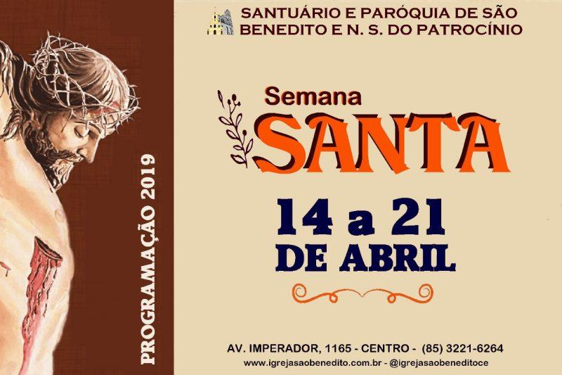 Programação da Semana Santa 2019 no Santuário e Paróquia de São Benedito