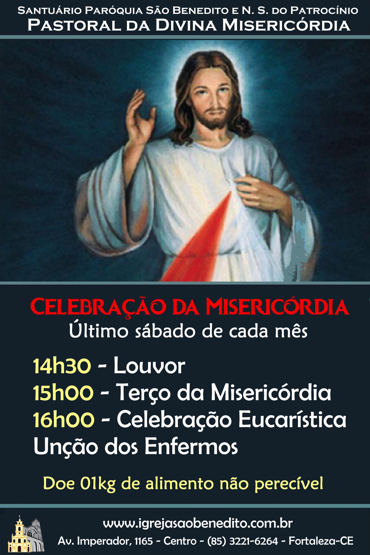 Celebração Eucarística das Misericórdias do Senhor dia 29/06. Participe!