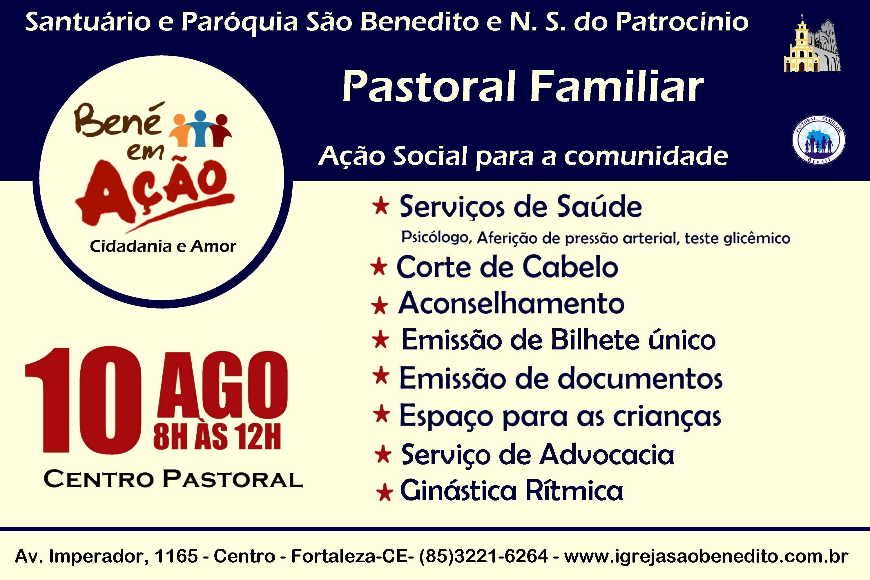 Paróquia São Benedito promove Ação Social – Bené em Ação dia 10/08. Participe!