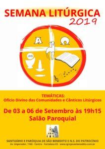 Semana Litúrgica da Paróquia São Benedito de 3 a 6 de setembro: Participe!