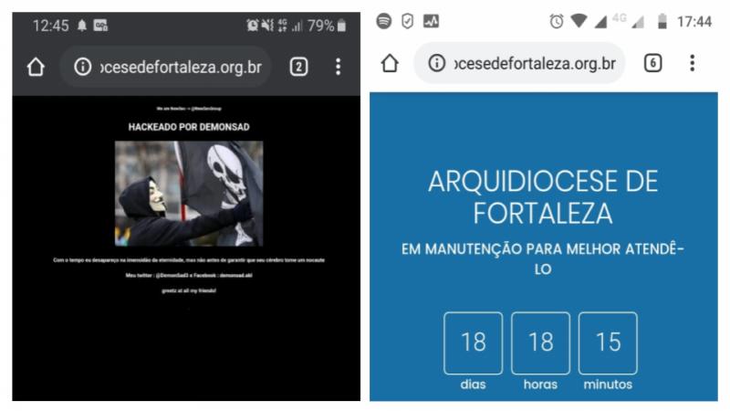 Site da Arquidiocese de Fortaleza é hackeado