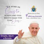 Mensagem do Papa Francisco para a Quaresma 2020