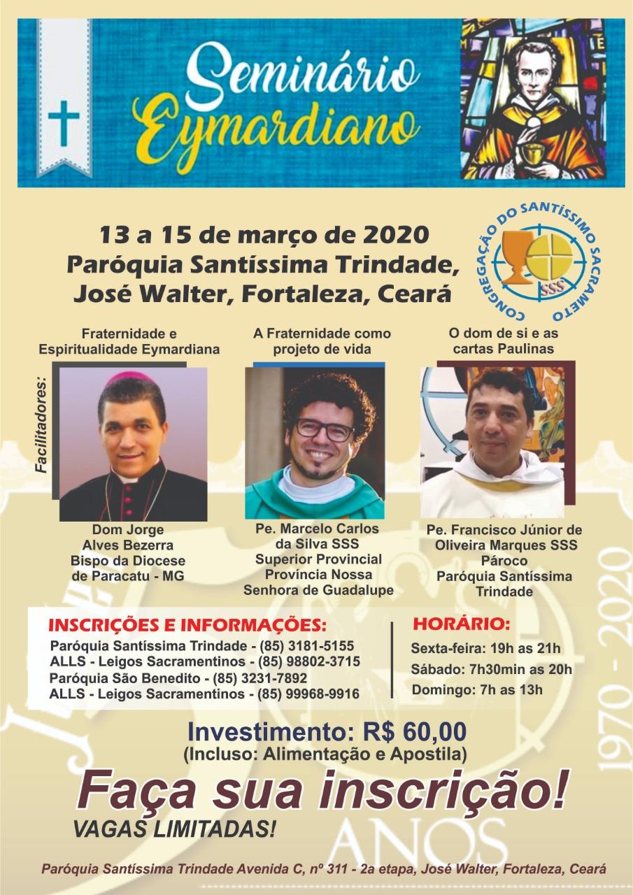 Seminário Eymardiano 2020 – Regional I – Nordeste de 13 a 15 de março
