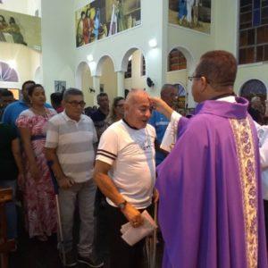 Celebrada Missa das Cinzas na Paróquia São Benedito