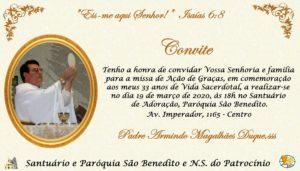 Missa em Ação de Graças pelo aniversário Presbiteral de Pe. Armindo Magalhães, SSS