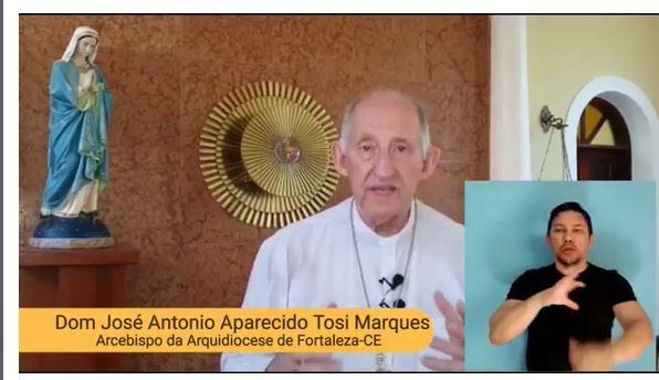 Dom José Antonio grava mensagem para esse tempo de quarentena