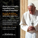 Junte-se à Bênção Apostólica Urbi et Orbi, do Papa Francisco ao mundo dia 27/03