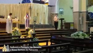 Corpo de Dom Aldo, sss é sepultado no mausoléu dos religiosos sacramentinos no Santuário de São Benedito