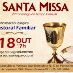 Santa Missa presencial dia 18/10. Participe!