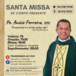 Missa de Corpo presente e Sepultamento de Pe. Anízio Ferreira, sss, 19/05