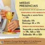 Novo Horário das Celebrações Eucarísticas