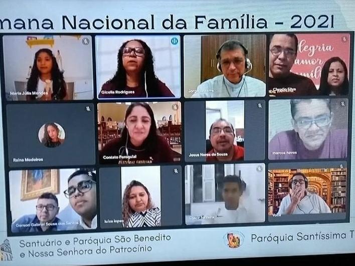 Paróquia São Benedito e Paróquia Santíssima Trindade celebram a Semana Nacional da Família 2021 virtualmente.