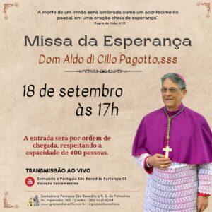 Missa da esperança – Dom Aldo di Cillo Pagotto, sss – 18/09